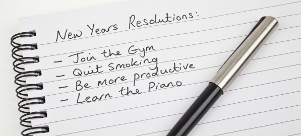 Photo of a list of New Year's Resolutions