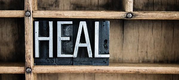 photo of the word heal