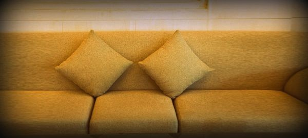 throw pillows on a therapy couch