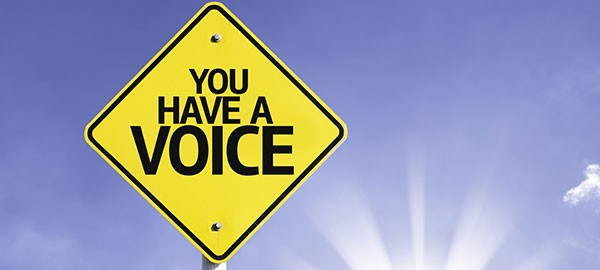 sign that says you have a voice