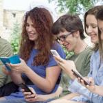 students on social media