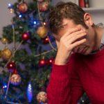 depressed man at christmas