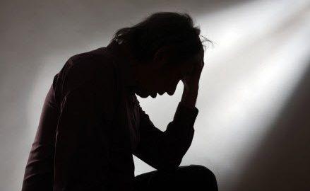 person experiencing a mental breakdown